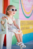 Little girl in Caribbean town Stock Photography