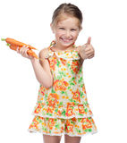 Little girl  with the carrot Stock Images