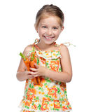 Little girl  with the carrot Stock Photo