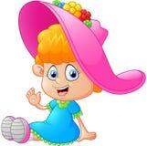 Little girl cartoon Royalty Free Stock Image