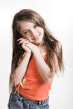 Little girl in casual dress Royalty Free Stock Photos