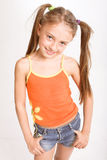 Little girl in casual dress Stock Photography