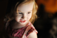 Little girl casual portrait Stock Images