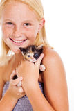 Little girl cat Royalty Free Stock Photo