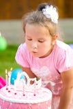 Little girl celebrate her birthday Stock Image