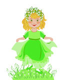 Little girl celebrates the arrival of spring Royalty Free Stock Photos