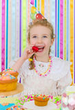 Little girl celebrates her birthday. Stock Photography