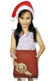 Little girl Celebrating Christmas Royalty Free Stock Image