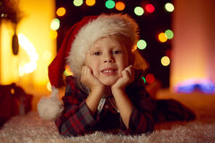 Little girl celebrating Christmas Royalty Free Stock Photography