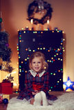 Little girl celebrating Christmas Royalty Free Stock Photos