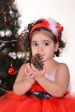 Little girl celebrating Christmas Stock Photography