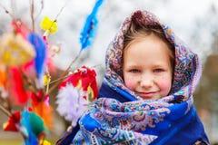 Little girl celebrating Easter Royalty Free Stock Images