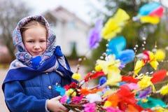 Little girl celebrating Easter Royalty Free Stock Photos