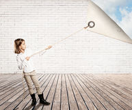 Little girl changing background Stock Photography