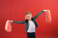 Little girl cheerleader Stock Photography