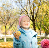 Little girl with a cheesy grin Royalty Free Stock Photos