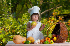 Little girl chef Stock Images