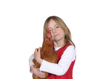 Little girl with chicken Royalty Free Stock Photo