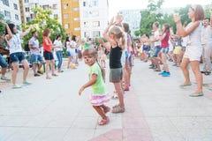 Little girl on children's party Stock Image