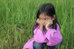 Little Girl Chin Royalty Free Stock Photos