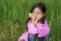 Little Girl Chin Stock Images