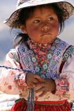 Little girl in Chivay in Peru. July 26, 2010 Royalty Free Stock Images