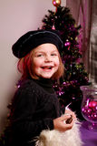 Little girl at christmas Royalty Free Stock Photo