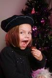 Little girl at christmas Stock Photo