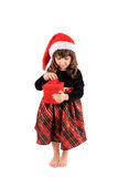 Little girl christmas Stock Photos