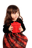 Little girl christmas Royalty Free Stock Photo