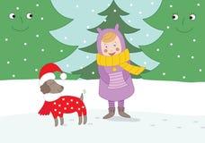 Little girl Christmas Stock Photography