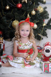 Little girl in Christmas Royalty Free Stock Photo