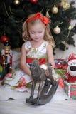 Little girl in Christmas Stock Photo