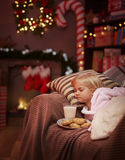 Little girl during Christmas Royalty Free Stock Photo