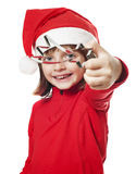 Little girl with a christmas decoration Royalty Free Stock Photography