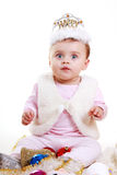 Little Girl with Christmas decorations Royalty Free Stock Photo