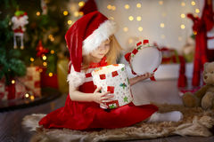 Little girl at christmas Eve Royalty Free Stock Photography