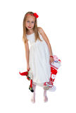 Little girl with Christmas presents Royalty Free Stock Photo