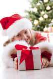 Little girl with christmas Stock Images
