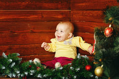 Little girl and christmas Royalty Free Stock Photography
