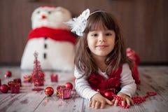 Little girl on christmas Stock Images