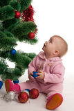 Little girl at Christmas time Royalty Free Stock Photography