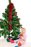Little girl at Christmas time Royalty Free Stock Photos