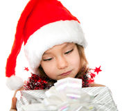 Little girl at Christmas time Royalty Free Stock Image