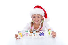Little girl at christmas time Stock Photo