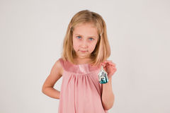 Little girl with christmas toy Stock Photo