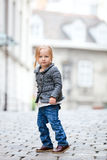 Little girl in city Stock Photos