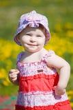 Little girl city park on walk Stock Images