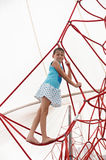 Little girl climbing Royalty Free Stock Image