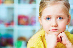 Little girl close up portrait. Royalty Free Stock Photography